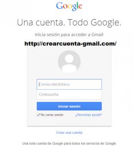 como crear cuenta gmail