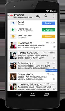 Gmail en celular