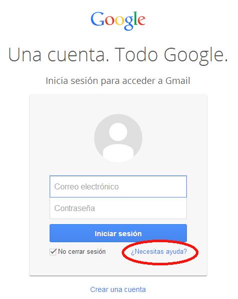 Necesitas ayuda en Gmail
