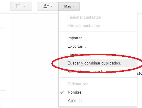 ¿De qué forma se eliminan los contactos repetidos en Gmail?