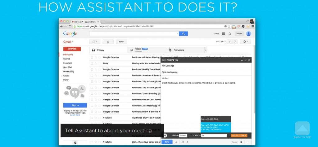 Un asistente para tus reuniones en Gmail