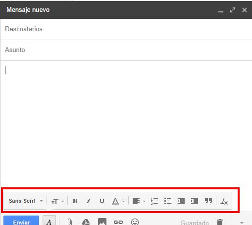 ¿Cómo cambiar la fuente de los mensajes de correo electrónico Gmail redactados?