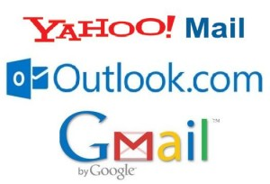 Gmail Yahoo Outlook