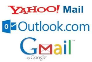 Gmail Yahoo Outlook
