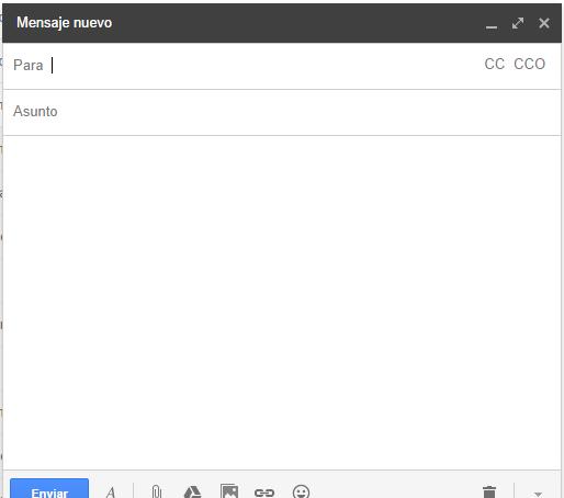 Redactar un correo electrónico desde la bandeja de entrada de Gmail
