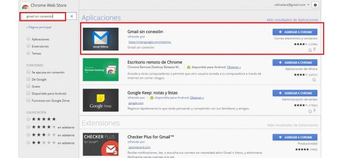 Ahora puedes utilizar Gmail sin conexión