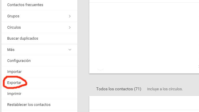 Cómo exportar tus contactos de Gmail3