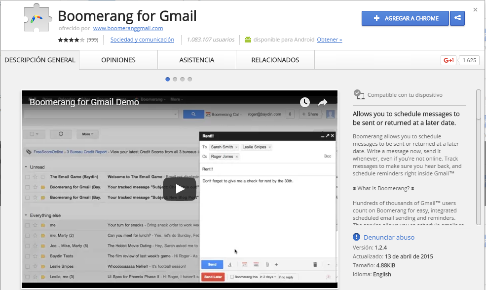 Programa tus correos para enviarse después con Gmail