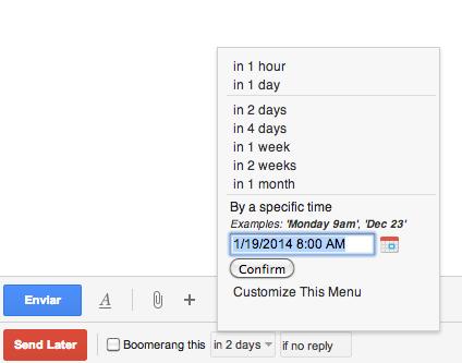 Programa tus correos para enviarse después con Gmail2