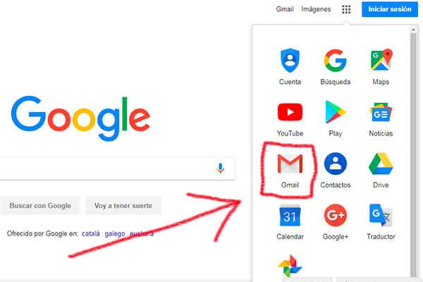Crear correo electrónico Gmail desde un ordenador